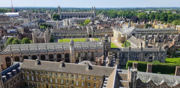Cambridge Colleges from the sky